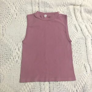 Dusty Rose Stretchy Crop Top